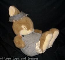 "12"" VINTAGE CREATIVE CONCEPTS BROWN BABY BUNNY RABBIT STUFFED ANIMAL PLUSH TOY"
