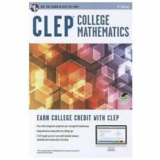 Clep College Math With Online Practice Tests by Rea Editors (2012, Paperback)