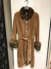 Wonderful Sheared Mink With Russian Sable Fur Collar&cuffs. Size M