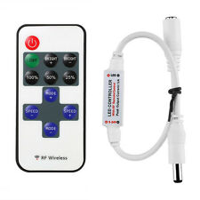 1X RF Wire 11Key Remote Controller Mini Dimmer Single Color LED Strip