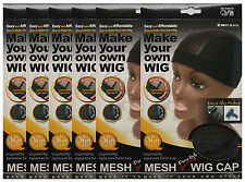 6 PACKS of Mesh Dome Style Wig Cap #5011 Black, FAST SHIPPING