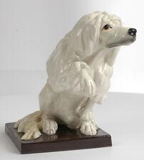 """Wiener Kunstkeramische Werkstaette """"Poodle"""" ceramic figure, ca. 1910"""