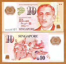 Singapore, 10 Dollars, ND (2015), Polymer, P-48-New, UNC    Hollow House