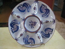 """Vintage 11"""" CHICKEN RELISH PLATE (? Italian Mark & Numbered)"""