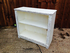 Beautifully Distressed Bookcase book shelf tv unit storage shabby chic furniture