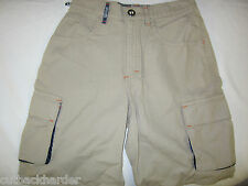 SPLIT Original Mike Ness Skateboard Cargo Shorts Khaki 24 NEW Made in USA