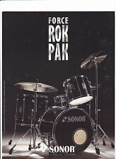 VINTAGE MUSICAL INSTRUMENT CATALOG #10529 - 1995 SONOR DRUMS = FORCE ROK PAK