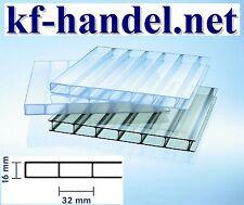 16mm Doppelstegplatten KLAR Acrylglas - Stegdoppelplatten Typ 16/32 *Muster*