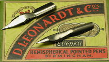 Lots of Five Vintage  D. Leonardt  Dip Pen Nibs-W/ RESERVOIR