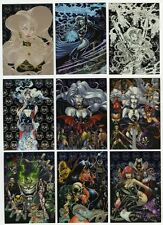 LADY DEATH Covenant TRADING CARDS, Silver Etch FOIL INSERT Set (9 Cards per Set)