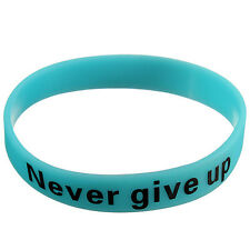 1Pc Silicone Glow In The Dark Letter Printed Elastic Sport Cuff Bracelet Bangle