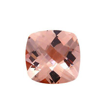 .85CT 6mm Natural Cushion Cut Morganite Loose Gemstones