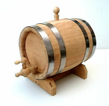 5 L Oak Barrel  Oak Wood Toasted Cask with wooden tap & pedestal for aging
