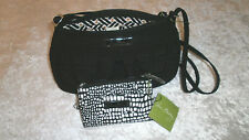 VERA BRADLEY CLASSIC BLACK FRANNIE COIN PURSE MIDNIGHT SNAKESKIN MWT CASINO BAG
