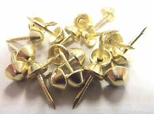 100 pcs Brass Plated Tapered Cone Head  Decorative Tack Nail Upholstery Stud