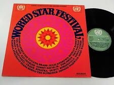 WORLD STAR FESTIVAL LP 1969 bee gees the supremes ray charles sonny & cher