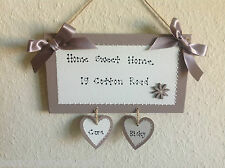 Personalised Home Address Painted Wooden Plaque ANY MESSAGE YOU LIKE House Sign