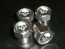 SKULL BIKERS MOTORBIKE OR CAR TYRE VALVE CAPS