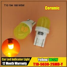 Yellow Amber T10 Ceramic Wedge 2SMD 5630 LED Light Bulb W5W 2825 158 192 168 194