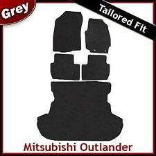 Mitsubishi Outlander Tailored Fitted Carpet Car + Boot Mats GREY (2007 2008 ...)
