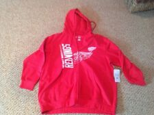 detriot redwings zipper fleece womens size 1xl