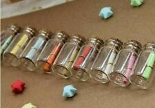 Dollhouse miniature glass bottles 10 glass bottle Jars with Cork cap 3.5 cm.high