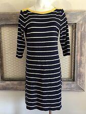 LAUREN | Ralph Lauren Striped Dress L Shirt Sheath Blue Yellow
