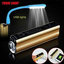 Cree XPE LED 7000LM Cigarette Lighter Torch Flashlight USB Charging By 18650 TR
