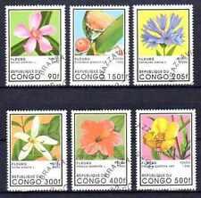 Flore - Fleurs Congo (33) série complète de 6 timbres oblitérés