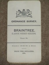 "OS Ordnance Survey Antique 1"" 1907 Braintree - sheet 98 on cloth"