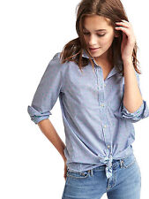 NEW NWT GAP FITTED BOYFRIEND BLUE STRIPE SHIRT BLOUSE SHIRT TOP S SMALL 8 4 36