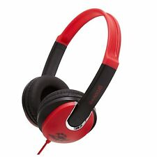 Kids Over Ear Children DJ Style Stereo Headphones Groov-e GV590RB Red/Black New