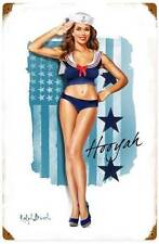New! Navy Girl Vintage Military Licensed Retro Metal Sign by Ralph Burch RB130