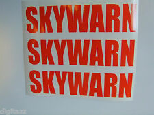 3x Large SKYWARN Stickers NWS Storm Spotter Ham Amateur Radio ARES RACES ecom