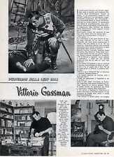 Z23 Ritaglio Clipping del 1963 Personaggi nella loro casa... Vittorio Gassman