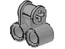 x4 Lego Technic NXT Light Gray Axle & Pin Connector Perpendicular Double 8011