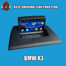 ANDROID 4.4.4 AUTORADIO MONITOR NAVIGATORE GPS PER BMW X3 WIFI BLUETOOTH