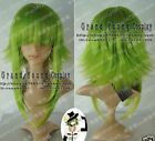 Hot!!!Vocaloid Gumi Cosplay Grass Green Wig Free shipping