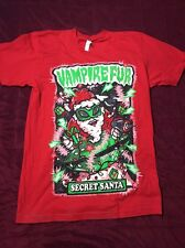 Vampire Fur Secret Santa Red Short Sleeve T shirt Size Medium