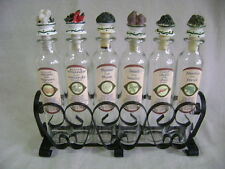 Spice Metal Rack & 6 Bottles. Resin Vegetable Shaped Lids