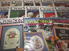Lot of 17 Vintage Issues Cross Stitch & Country Crafts Magazine 1980s 1990s