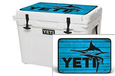 YETI Cooler Wrap Skin Decal 24mil for Tundra 50qt Lid  Marlin WD Blue
