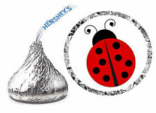 216 LADYBUG BIRTHDAY PARTY FAVORS HERSHEY KISS LABELS