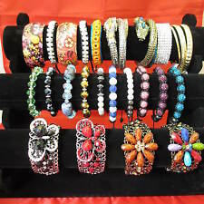 Wholesale & Job Lots 100 Assorted Style Fashion Bracelets & Cuff Bangles & Stand