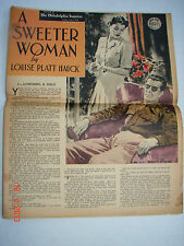 A SWEETER WOMAN Louise Platt Hauck - Gold Seal Novel - Philadelphia Inq 2/15/42