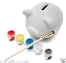 Childrens PAINT YOUR OWN Pottery Pig - Ceramic Money Box Piggy Bank Gift