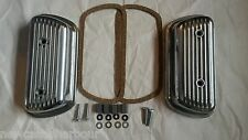 VW BEETLE / CAMPER T2 ALUMINIUM VALVE ROCKER COVERS BOLT ON BAY BUS BUG ALLY *