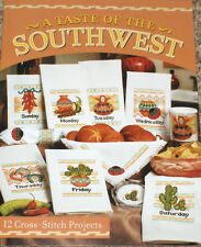 Southwest Pottery, Cactus & Peppers X-Stitch Dish Towels & Breadcloth Patterns