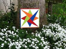 Wooden Barn Quilt 16 inch Patchwork - Laced Star