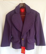 Vivienne Westwood Red Label 'Love' Jacket / Blazer. Purple. Italy 44 UK 12.